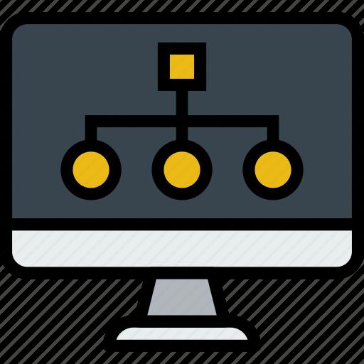 business, desk, desktop, diagram, office, tool icon