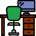 business, desk, desktop, office, tool icon