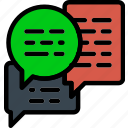 business, desk, desktop, messages, office, tool icon