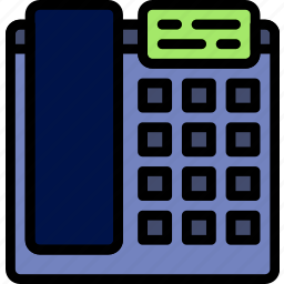 business, desk, desktop, office, phone, tool icon