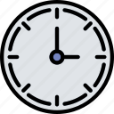 business, clock, desk, desktop, office, tool icon