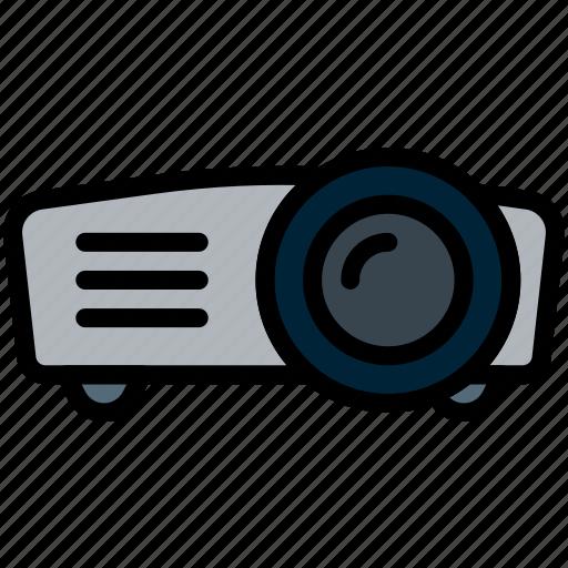 business, desk, desktop, office, projetor, tool icon