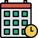 business, calendar, desk, desktop, office, tool icon