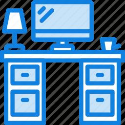 business, desk, desktop, office, tool icon