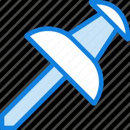 business, desk, desktop, office, pin, tool icon