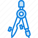 business, desk, desktop, measurement, office, tool icon