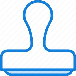 business, desk, desktop, office, stamp, tool icon