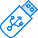 business, desk, desktop, office, tool, usb icon