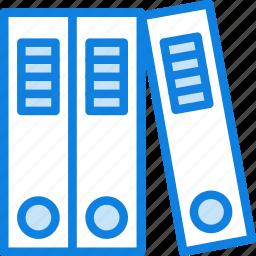 binders, business, desk, desktop, office, tool icon