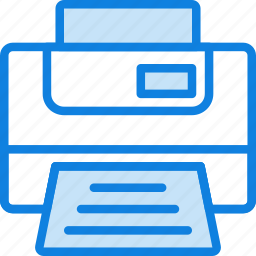 business, desk, desktop, office, printer, tool icon