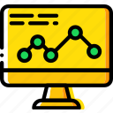 analytics, business, desk, desktop, office, tool icon