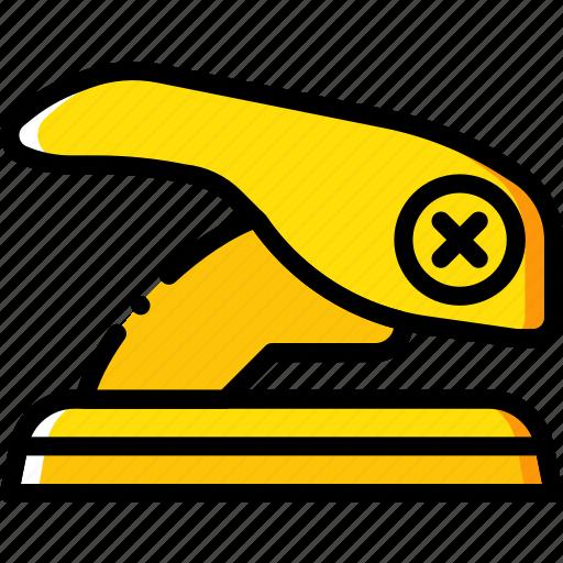 business, desk, desktop, office, paper, punch, tool icon