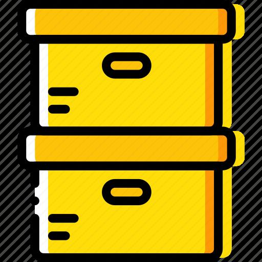 boxes, business, desk, desktop, office, tool icon