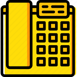 business, desk, desktop, office, phone, tool icon