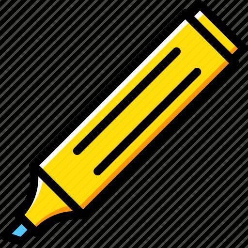 business, desk, desktop, marker, office, tool icon