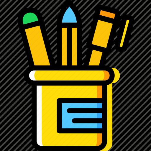 business, desk, desktop, office, pencils, tool icon