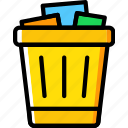 business, can, desk, desktop, office, tool, trash icon