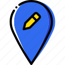 edit, location, map, navigation, pin icon