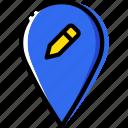 edit, location, map, navigation, pin icon