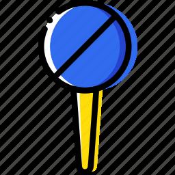 forbidden, location, map, navigation, pin icon