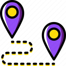 location, map, navigation, pin, roadmap icon