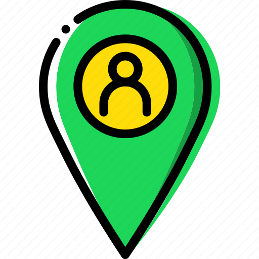 location, map, navigation, pin, profile icon