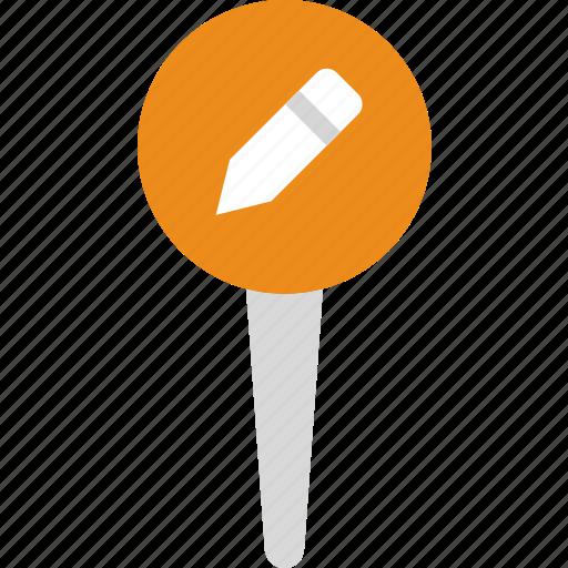 edit, location, map, marker, navigation, pin icon