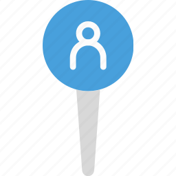 location, map, marker, navigation, pin, profile icon