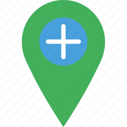 add, location, map, marker, navigation, pin icon