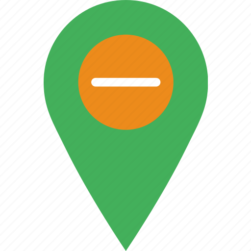 location, map, marker, navigation, pin, substract icon