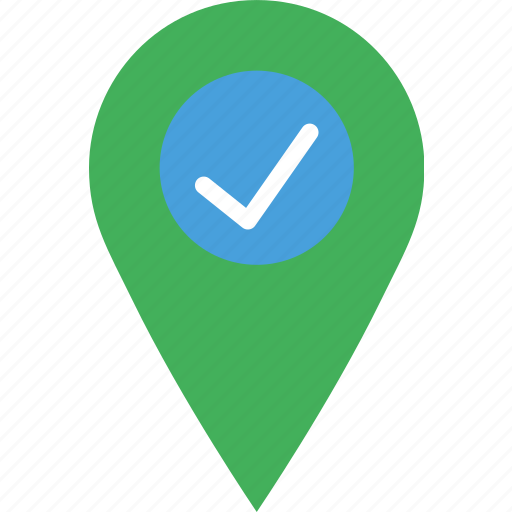 location, map, marker, navigation, pin, success icon