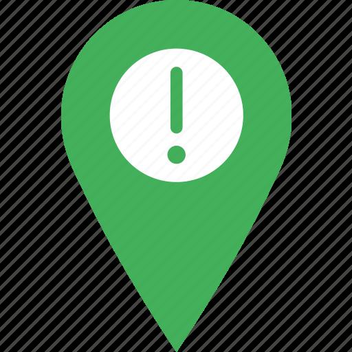 location, map, marker, navigation, pin, warning icon