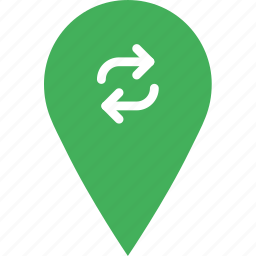 location, map, marker, navigation, pin, refresh icon