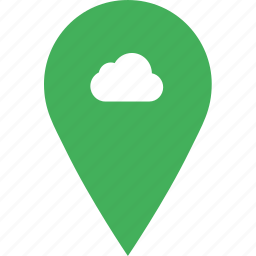 add, cloud, location, map, pin icon
