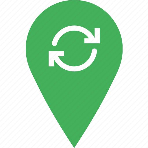 location, map, marker, navigation, pin, sync icon