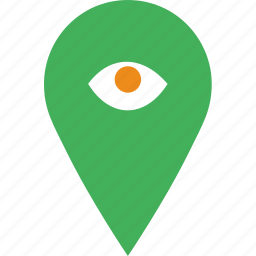 hide, location, map, marker, navigation, pin icon