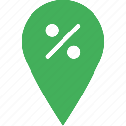 discount, location, map, marker, navigation, pin icon