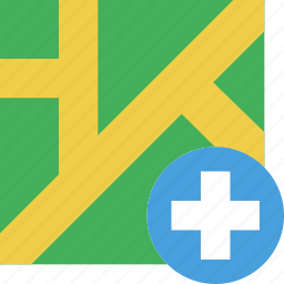 hospital, location, map, marker, navigation, pin icon