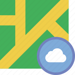 add, cloud, location, map, marker, pin icon