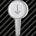 download, location, map, navigation, pin
