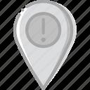 location, map, navigation, pin, warning