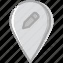 edit, location, map, navigation, pin