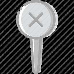 delete, location, map, navigation, pin icon