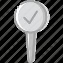 location, map, navigation, pin, success