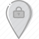 location, lock, map, navigation, pin icon