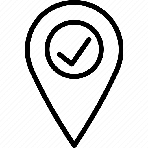 location, map, marker, navigation, pin, success icon