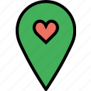 like, location, map, navigation, pin icon