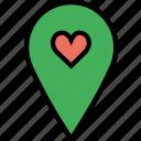 like, location, map, navigation, pin icon