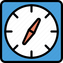 compass, location, map, navigation, pin icon