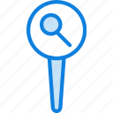 location, map, navigation, pin, searching icon